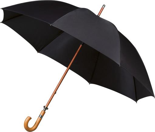 Relatiegeschenk Golfparaplu Falcone® met houten stok en haak bedrukken