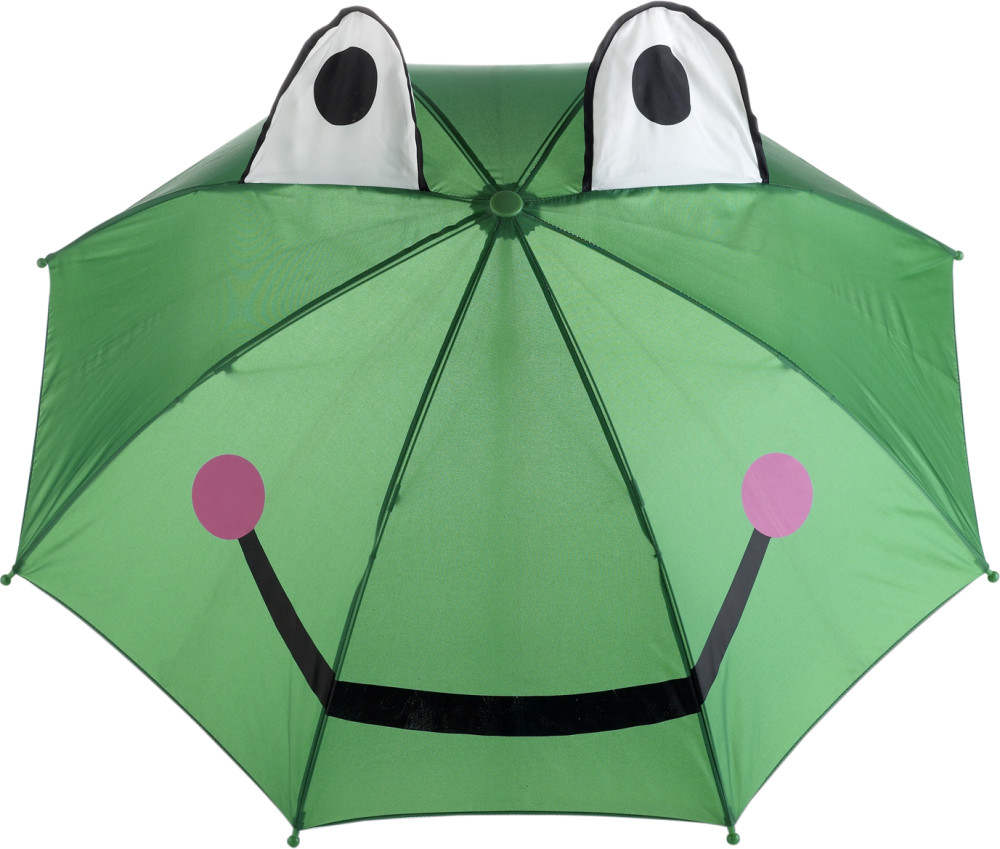Kikker-paraplu-kinderen