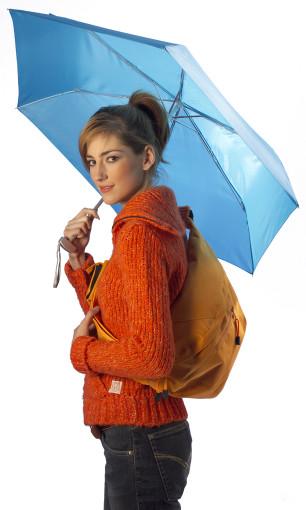 Relatiegeschenk Opvouwbare paraplu met polskoord bedrukken