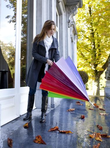 Relatiegeschenk Jumboparaplu Mondriaan bedrukken