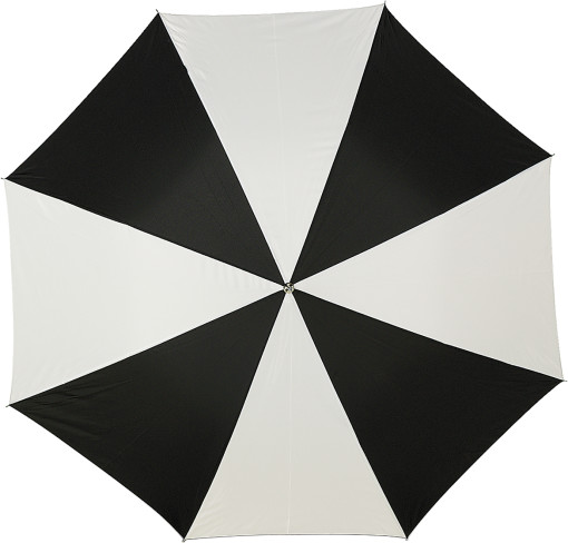 Relatiegeschenk Golfparaplu met metalen stok en houten handvat bedrukken