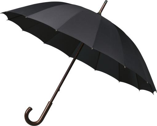 Relatiegeschenk Paraplu Falcone® met houten stok en haak bedrukken