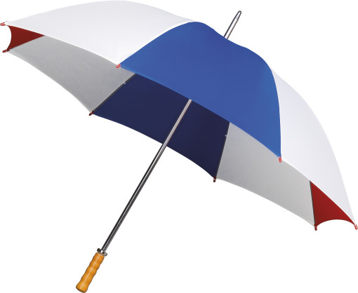 Relatiegeschenk Combi Golfparaplu met houten handvat bedrukken